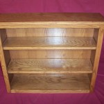 Solid Red Oak Bookcase