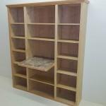 Solid Oak Desk & Bookshelf