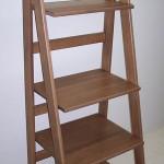 Solid Hardwood Folding Bookshelf Ladder