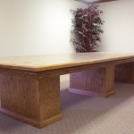 Solid Oak Conference Table