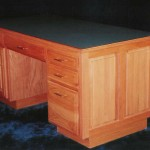 Solid Oak Executive Desk