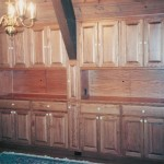 Solid Red Oak Hardwood Built-in Hutch