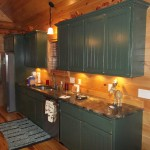 Solid American Custom Hardwood Cabin Kitchen