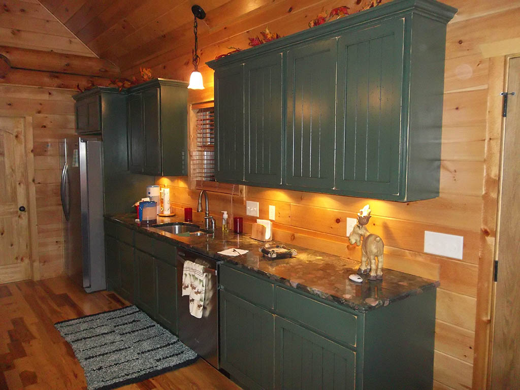 Solid American Custom Hardwood Cabin Kitchen Charles R