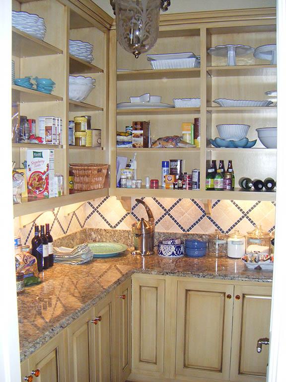 Solid Hardwood Walk In Pantry