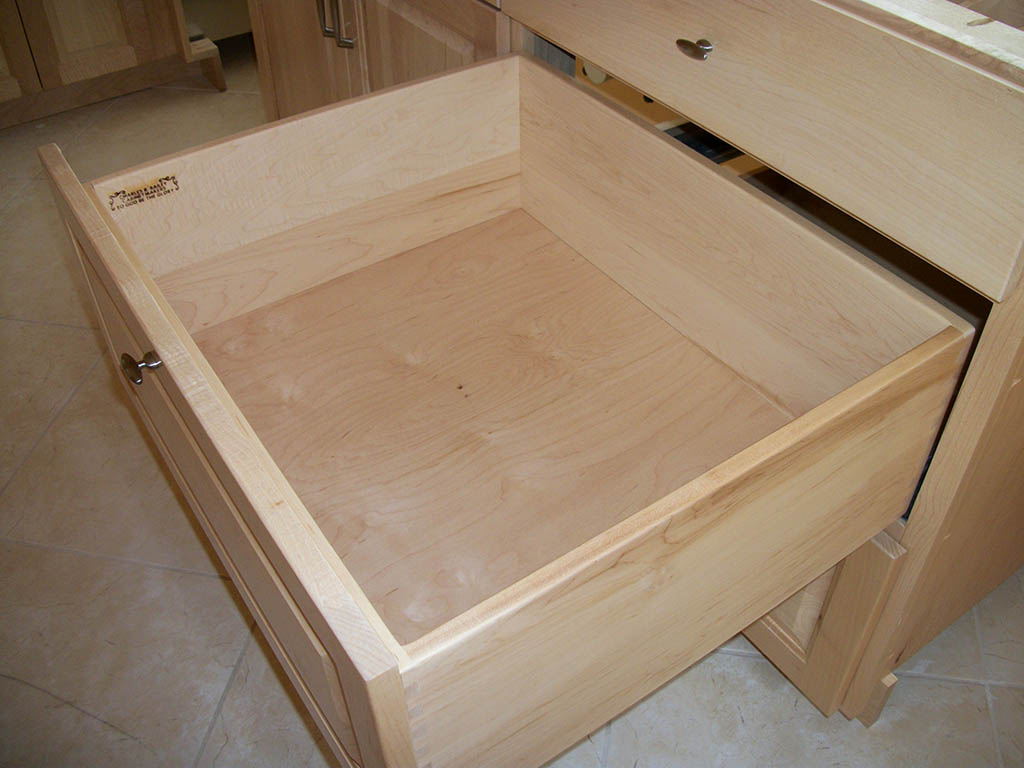 Cabinet Drawer Rails Custom Cabinet Drawers Charles R Bailey Cabinetmakers