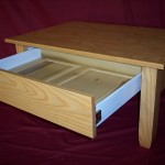 Solid Ash Coffee Table with a Natural Finish