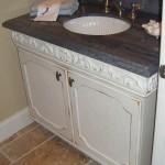 Solid Hardwood Powder Room Vanity